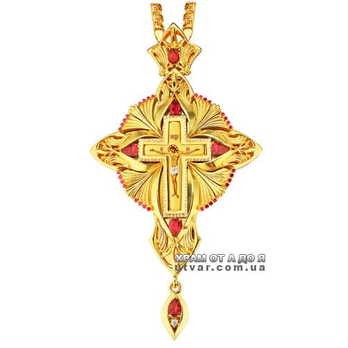Крест и цепочка с священника с латуни
